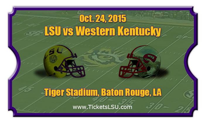LSU Tigers vs Western Kentucky Hilltoppers Football ...